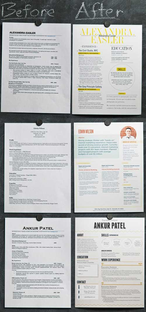 esempi di curriculum vitae creativi raccolta infografiche cv