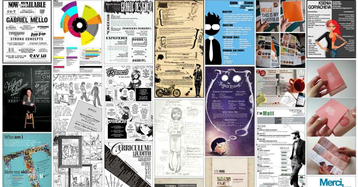 esempi di curriculum vitae creativi raccolta infografiche cv curriculum infografica